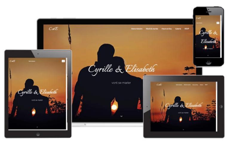 Template WebAcappella Mariage